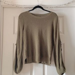 Sweater Top with cute out sleeve